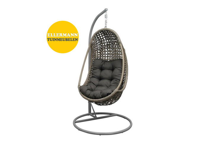 Hangstoel Egg Wit.Hangstoel Egg Chair Cool Hangstoel Cocoon Net Wit Grey With