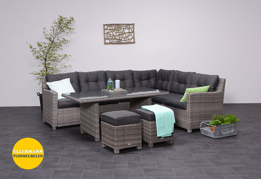 bluebird loungeset 5 delige rechts organic grey garden. Black Bedroom Furniture Sets. Home Design Ideas