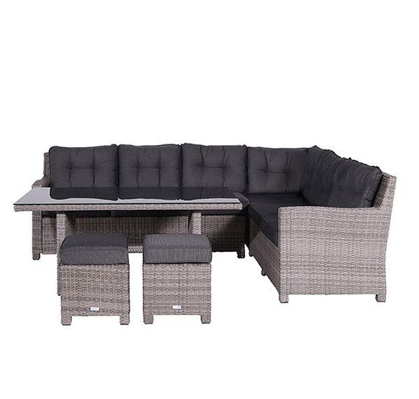 Bluebird loungeset rechts Organic Grey