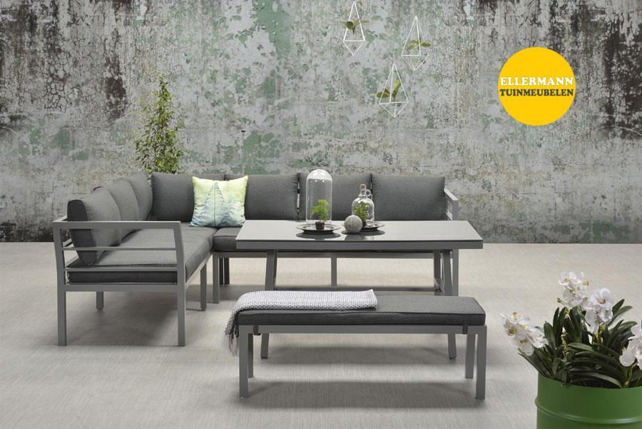 Garden impressions blakes loungeset arctic grey for Dinner lounge gartenmobel