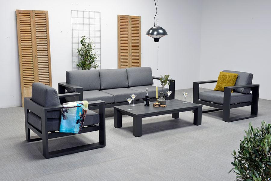 cube loungeset garden impressions carbon black ellermann tuinmeubelen. Black Bedroom Furniture Sets. Home Design Ideas