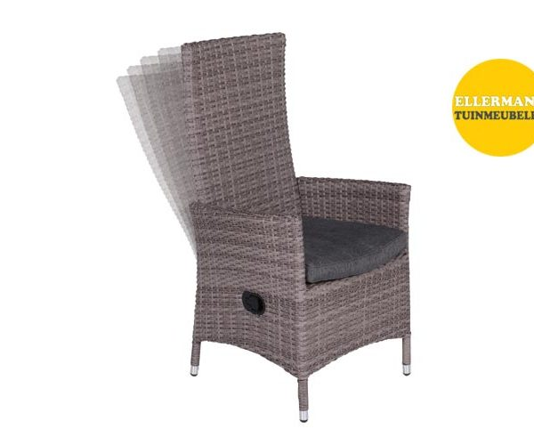 Mexico verstelbare fauteuil organic grey
