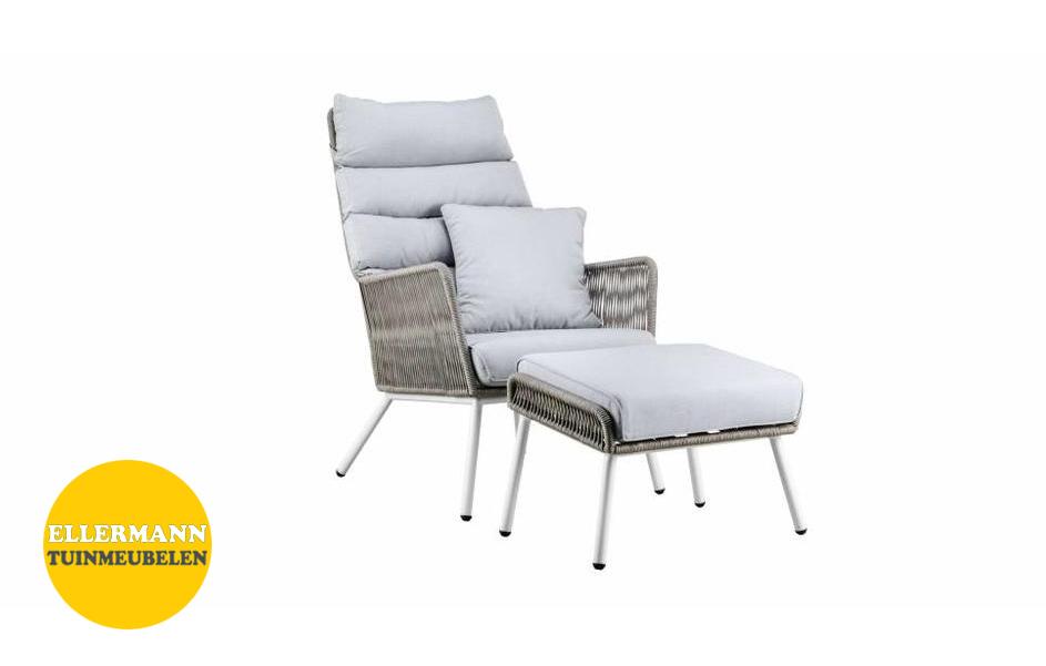 Lounge Stoel Hocker.Suns Faros Lounge Chair Met Hocker