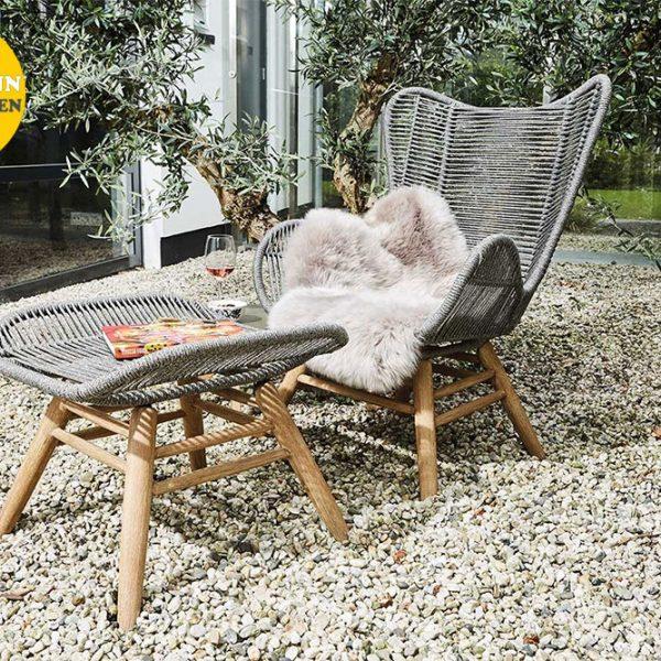 Suns Kreta sofa stoel met hocker
